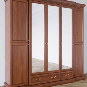 Шкаф из массива 5 дверный Леди